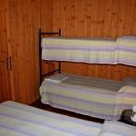 Schlafzimmer mit Etagenbett in Bungalow Gardasee 2 Personen